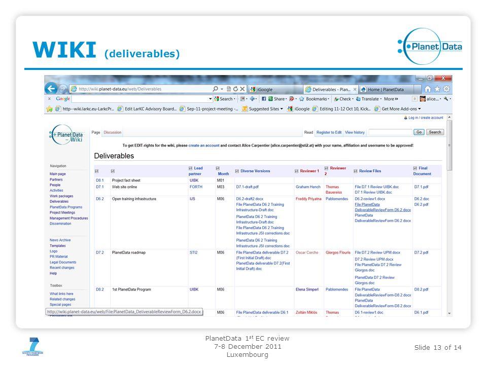 02.11.11 WIKI (deliverables)
