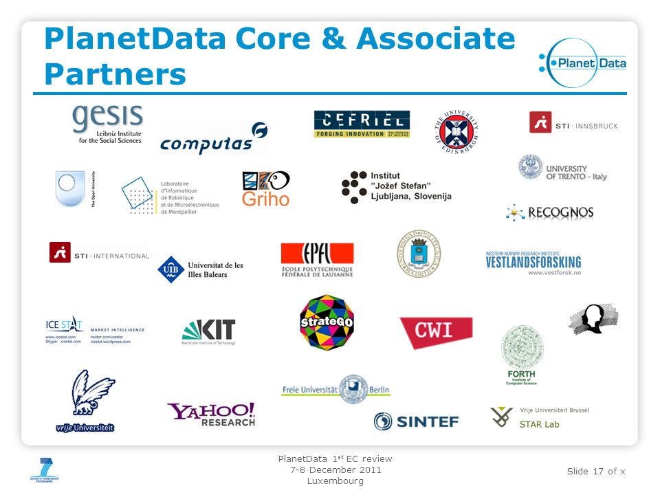 PlanetData Core & Associate Partners