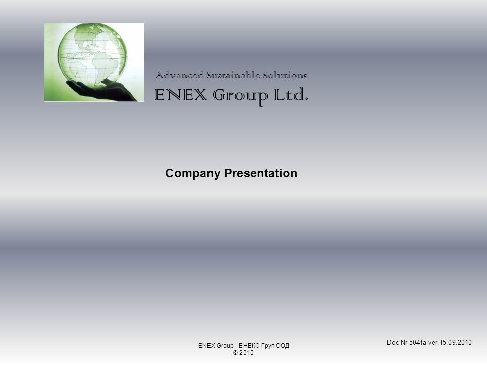 Advanced Sustainable Solutions ENEX Group Ltd.