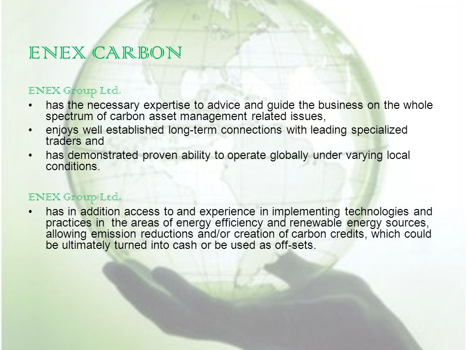 ENEX CARBON ENEX Group Ltd.