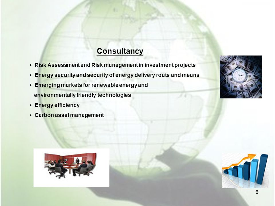 Consultancy Risk Assessment and Risk management in investment projects