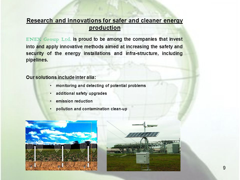 Research and innovations for safer and cleaner energy production