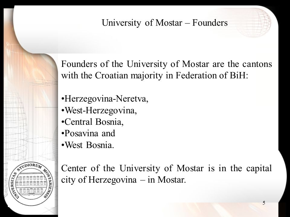 University of Mostar – Founders