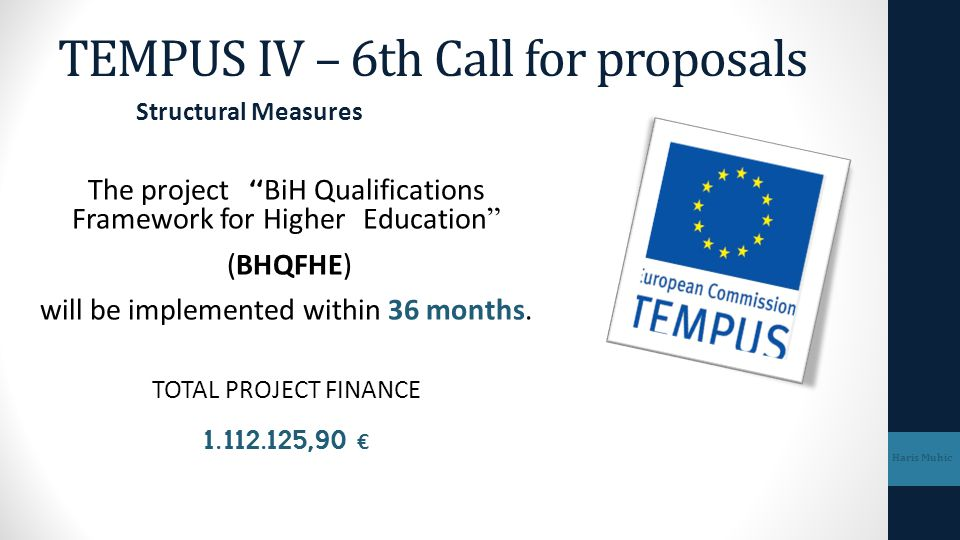 TEMPUS IV – 6th Call for proposals