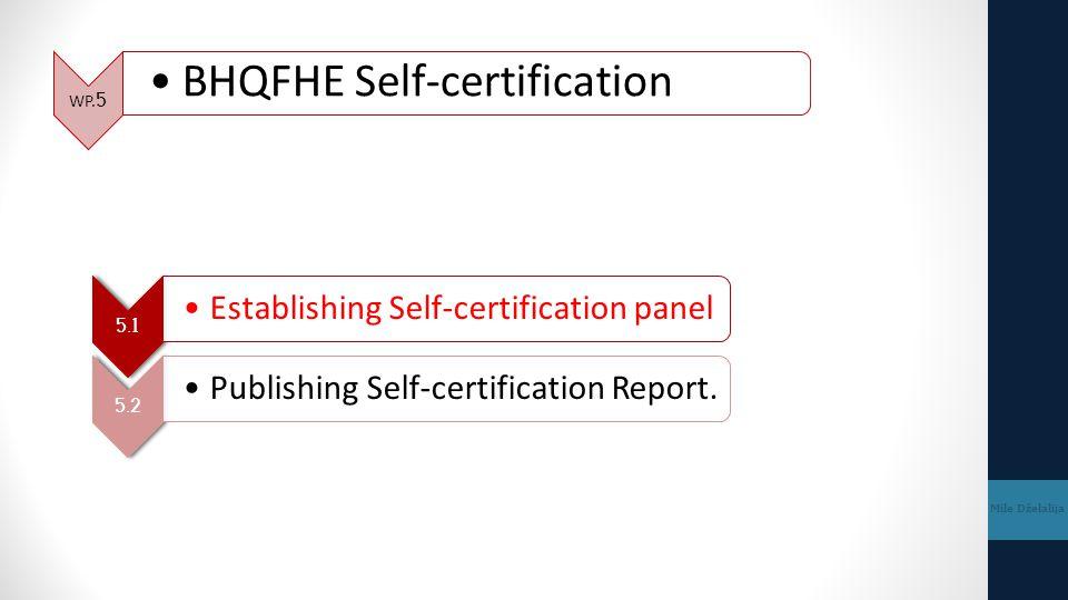 BHQFHE Self-certification