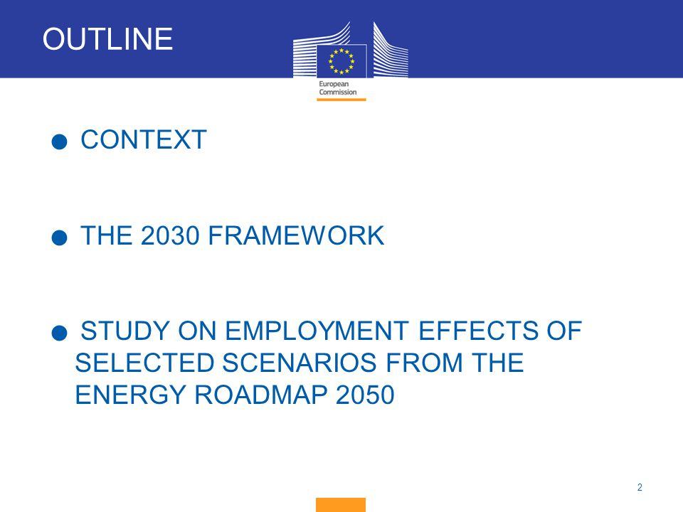 OUTLINE CONTEXT THE 2030 FRAMEWORK