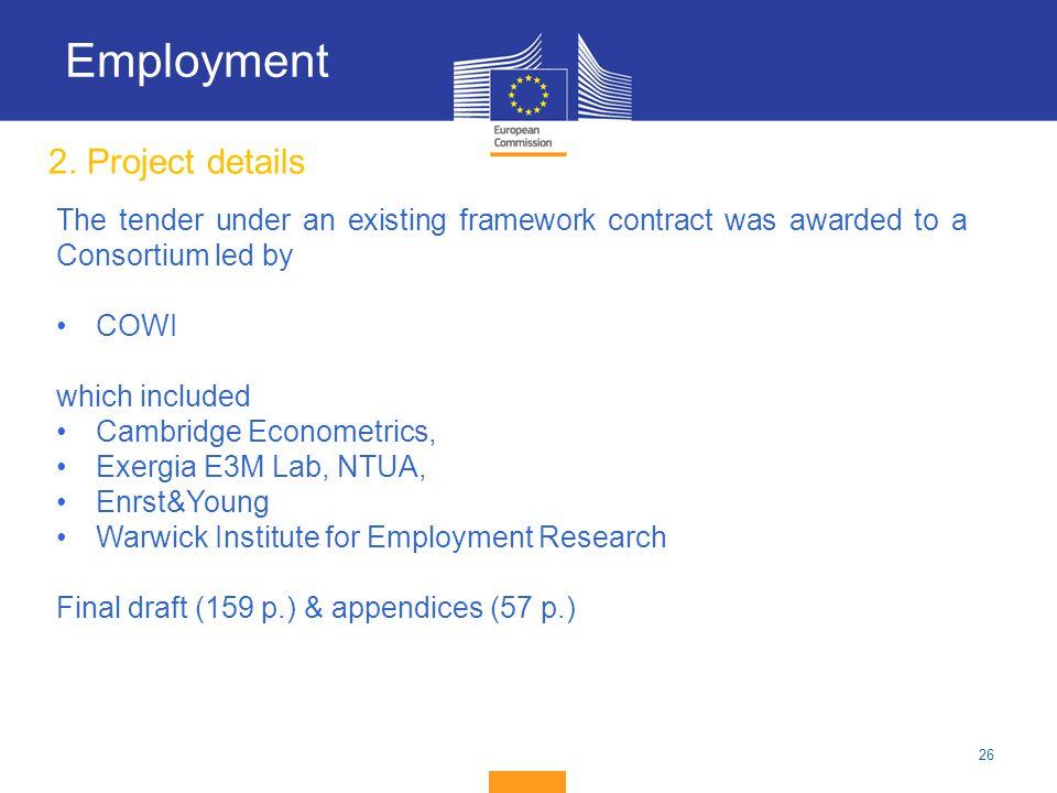 Employment 2. Project details