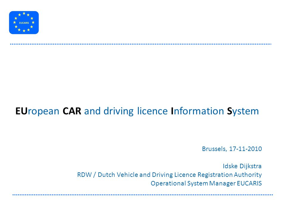 EUropean CAR and driving licence Information System