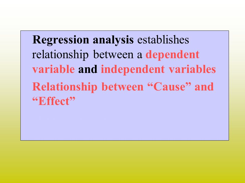 Relationship between Cause and Effect t