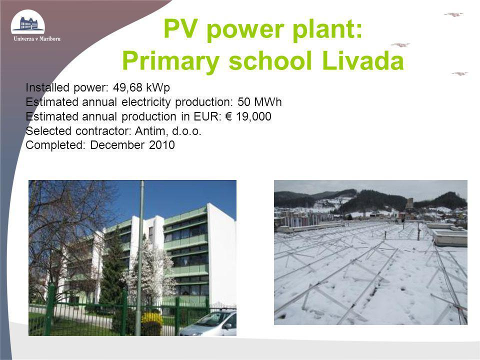 PV power plant: Primary school Livada