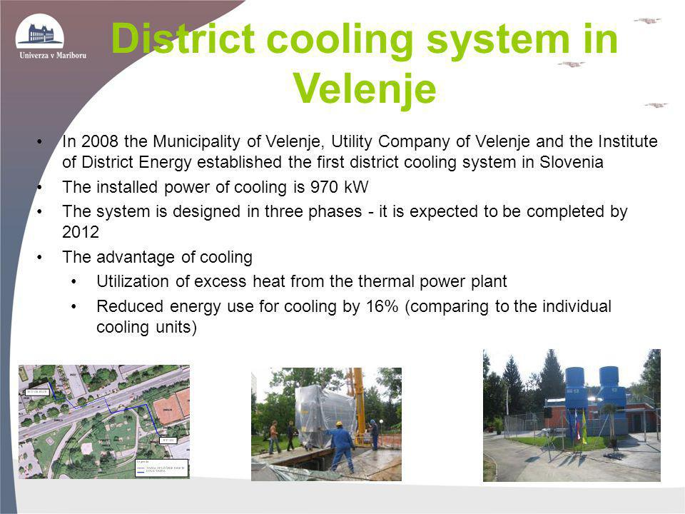 District cooling system in Velenje