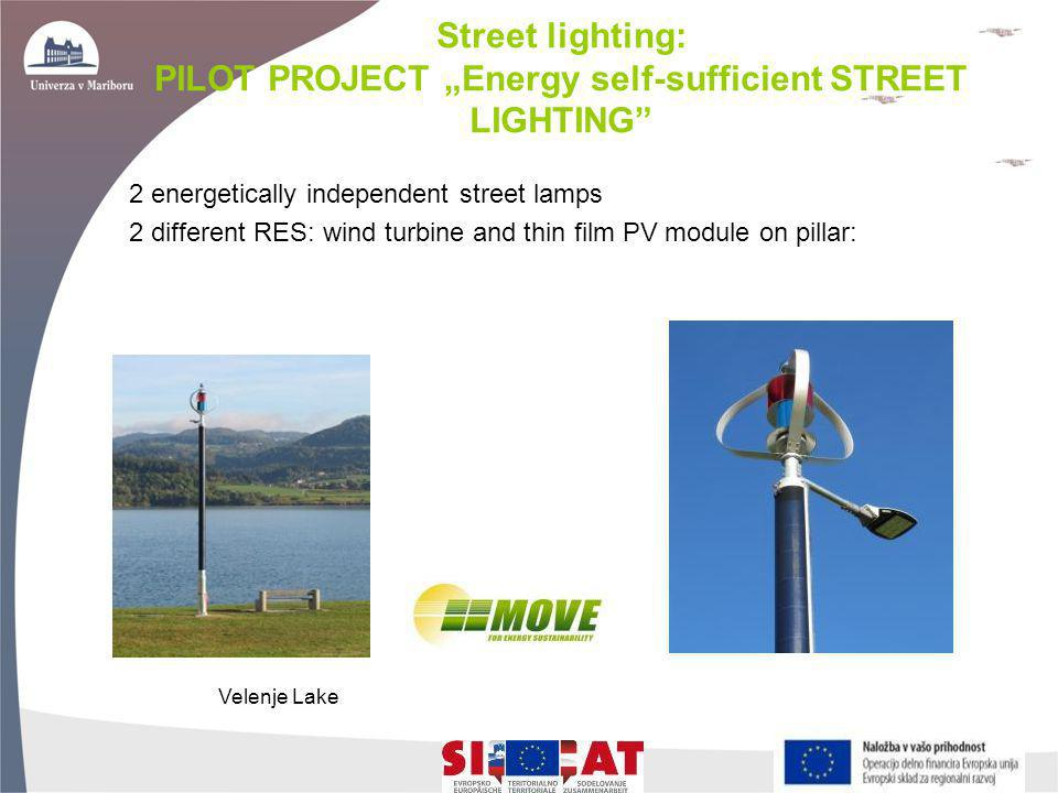 "Street lighting: PILOT PROJECT ""Energy self-sufficient STREET LIGHTING"