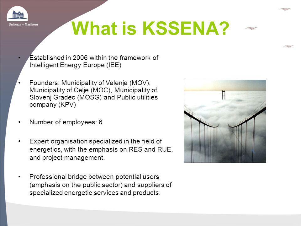What is KSSENA Established in 2006 within the framework of Intelligent Energy Europe (IEE)