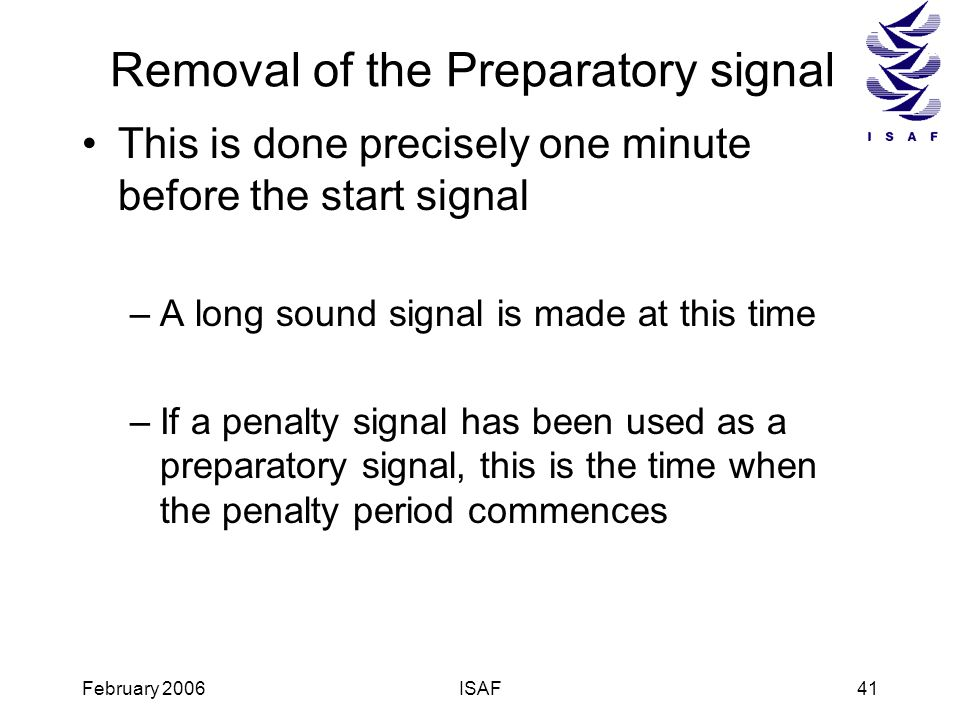 Removal of the Preparatory signal