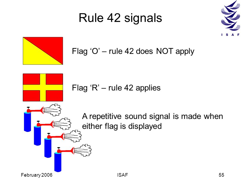 Rule 42 signals Flag 'O' – rule 42 does NOT apply