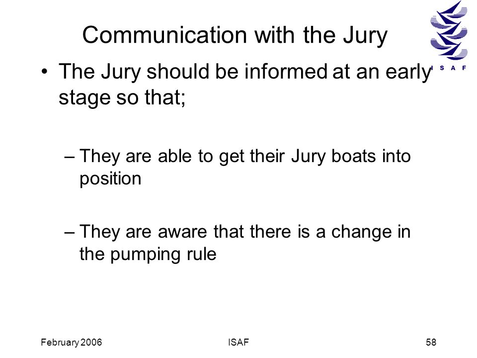 Communication with the Jury