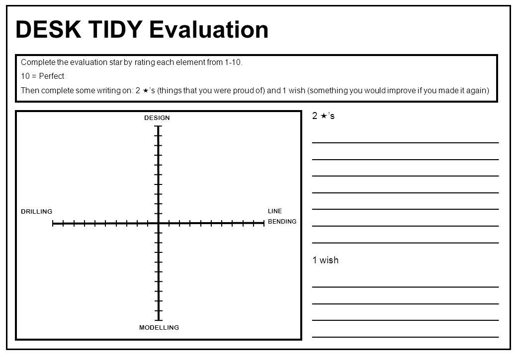 DESK TIDY Evaluation 2 's