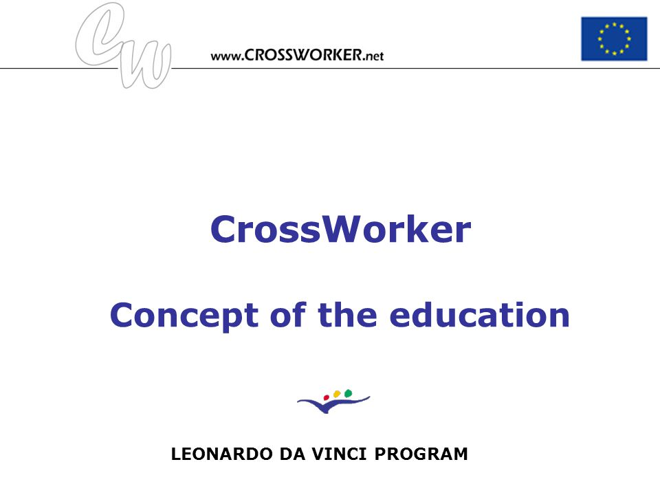 CrossWorker Concept of the education
