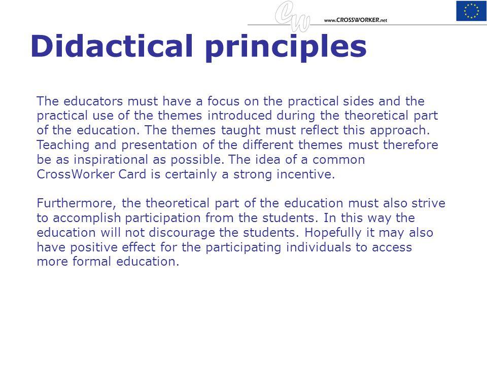 Didactical principles