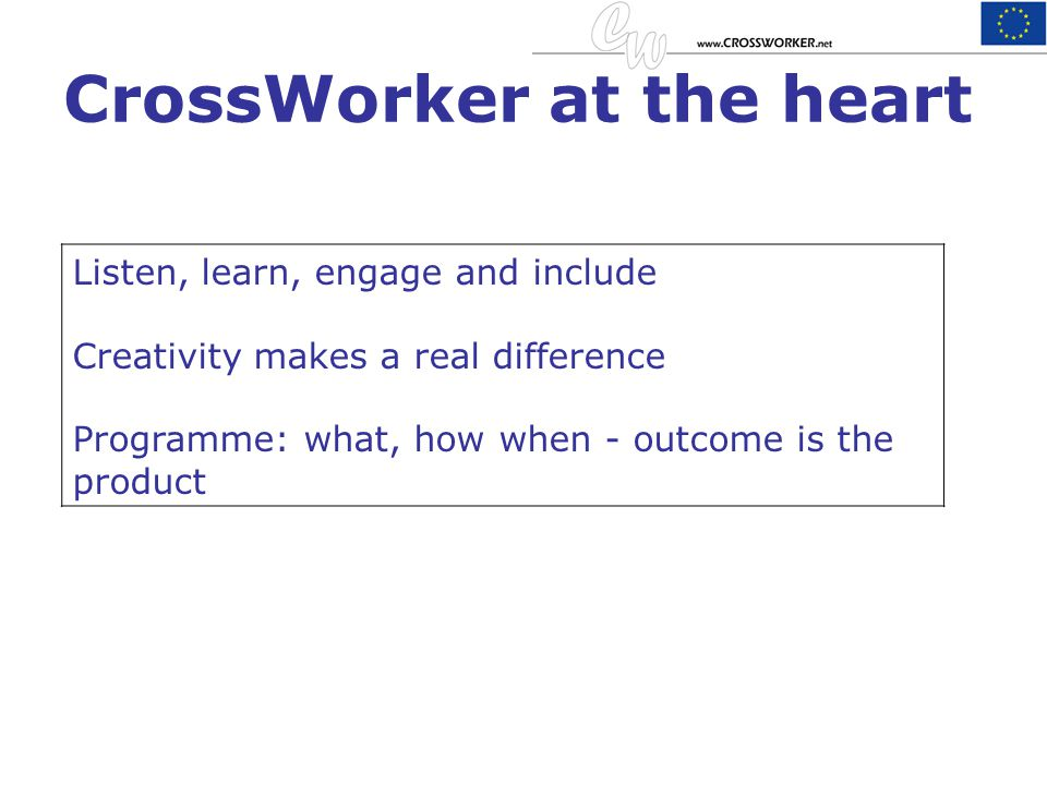 CrossWorker at the heart