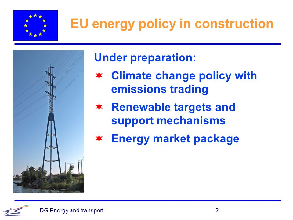 EU energy policy in construction
