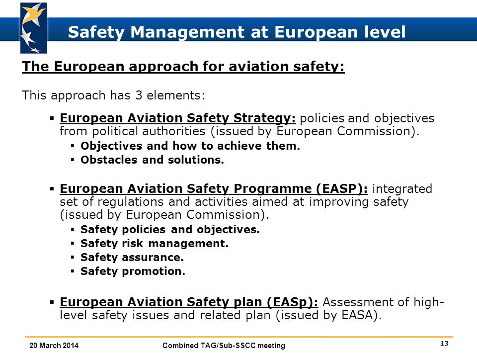 Safety Management at European level