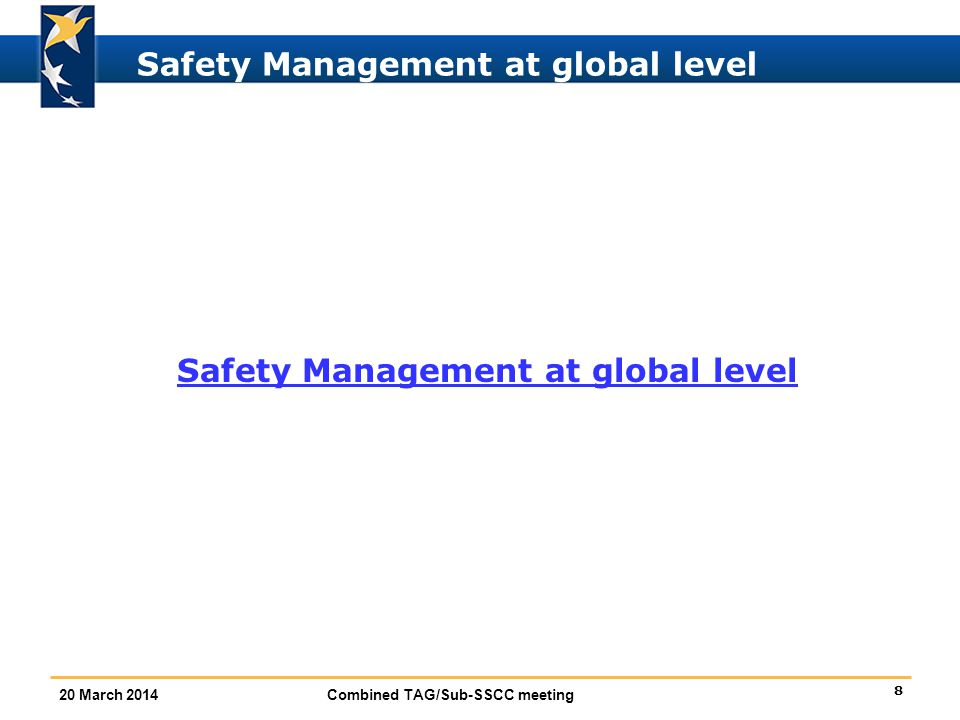 Safety Management at global level
