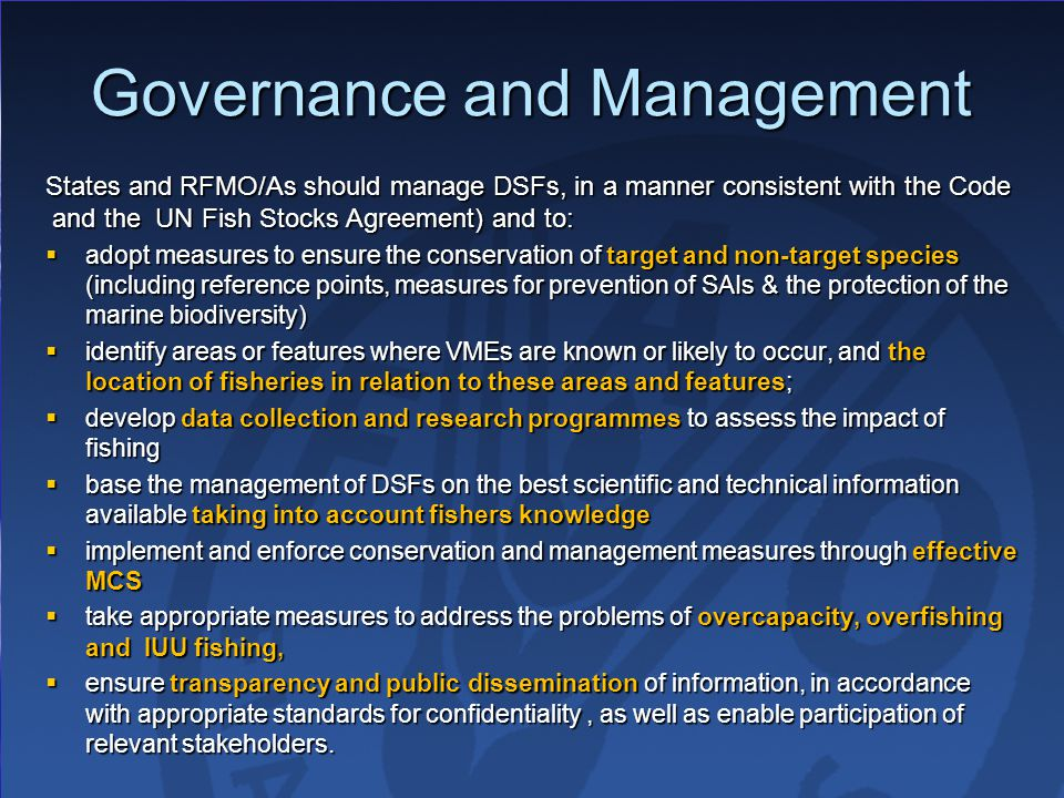 Governance and Management