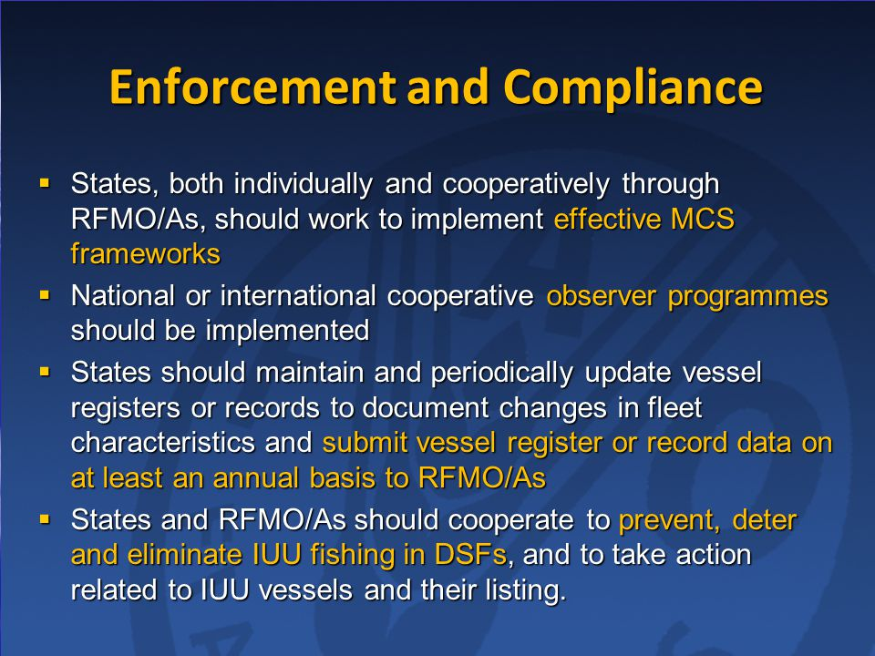 Enforcement and Compliance