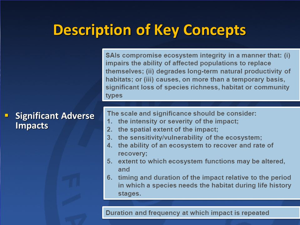 Description of Key Concepts