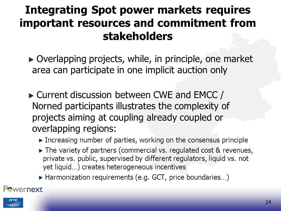 Integrating Spot power markets requires important resources and commitment from stakeholders