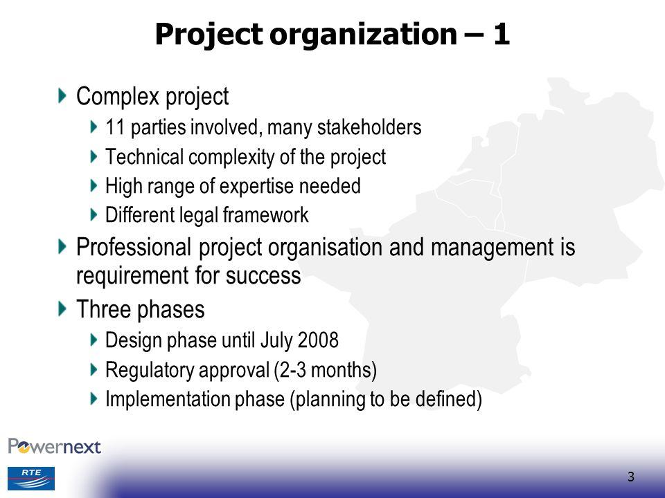 Project organization – 1