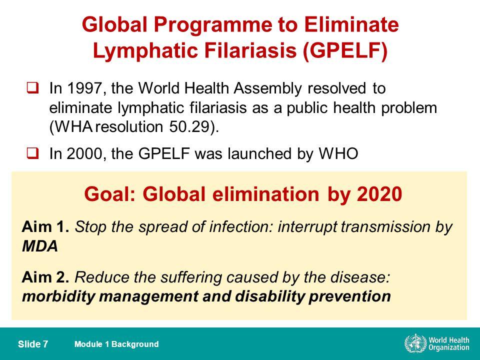 Global Programme to Eliminate Lymphatic Filariasis (GPELF)