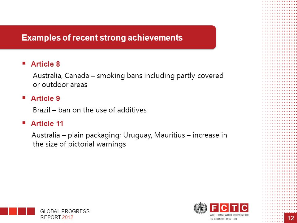 Examples of recent strong achievements