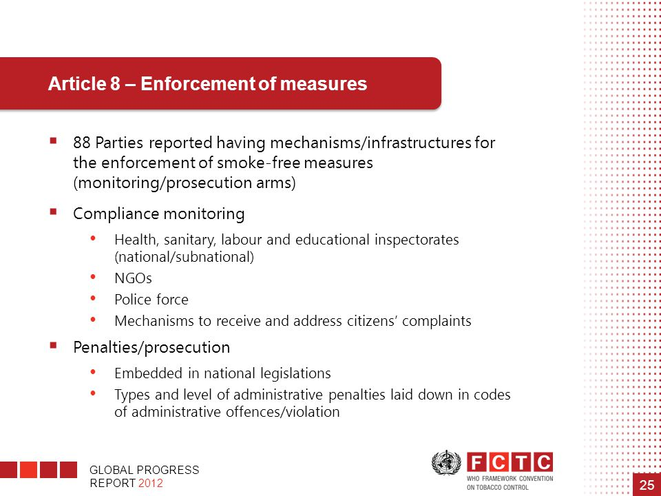Article 8 – Enforcement of measures