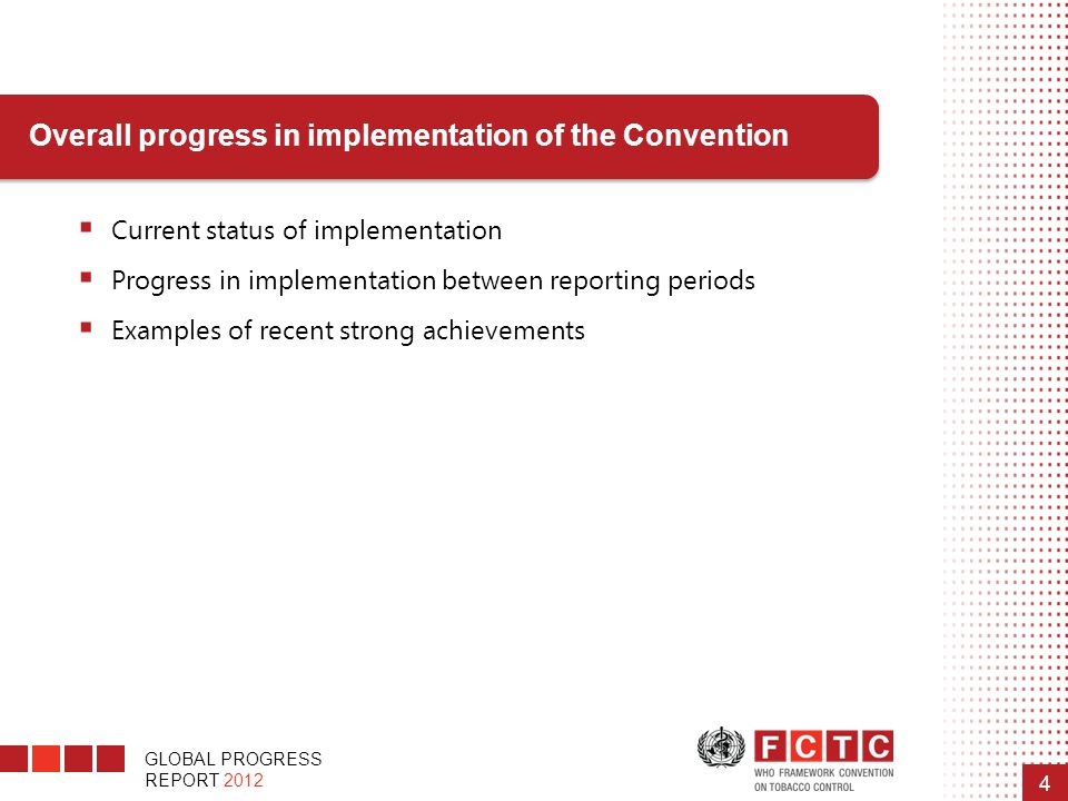 Overall progress in implementation of the Convention
