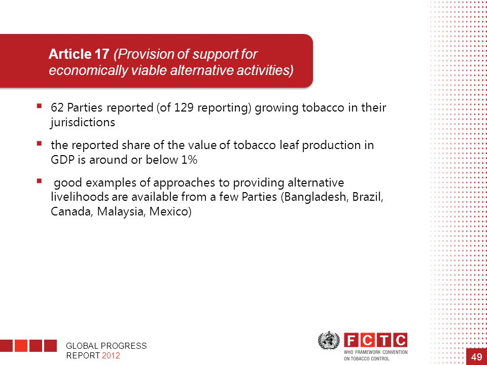 Article 17 (Provision of support for economically viable alternative activities)