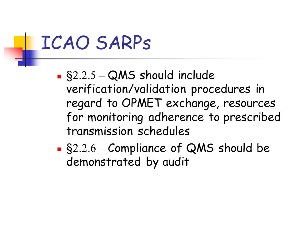 ICAO SARPs