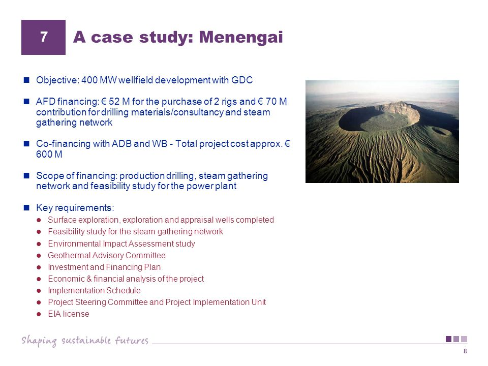 A case study: Menengai 7. Objective: 400 MW wellfield development with GDC.