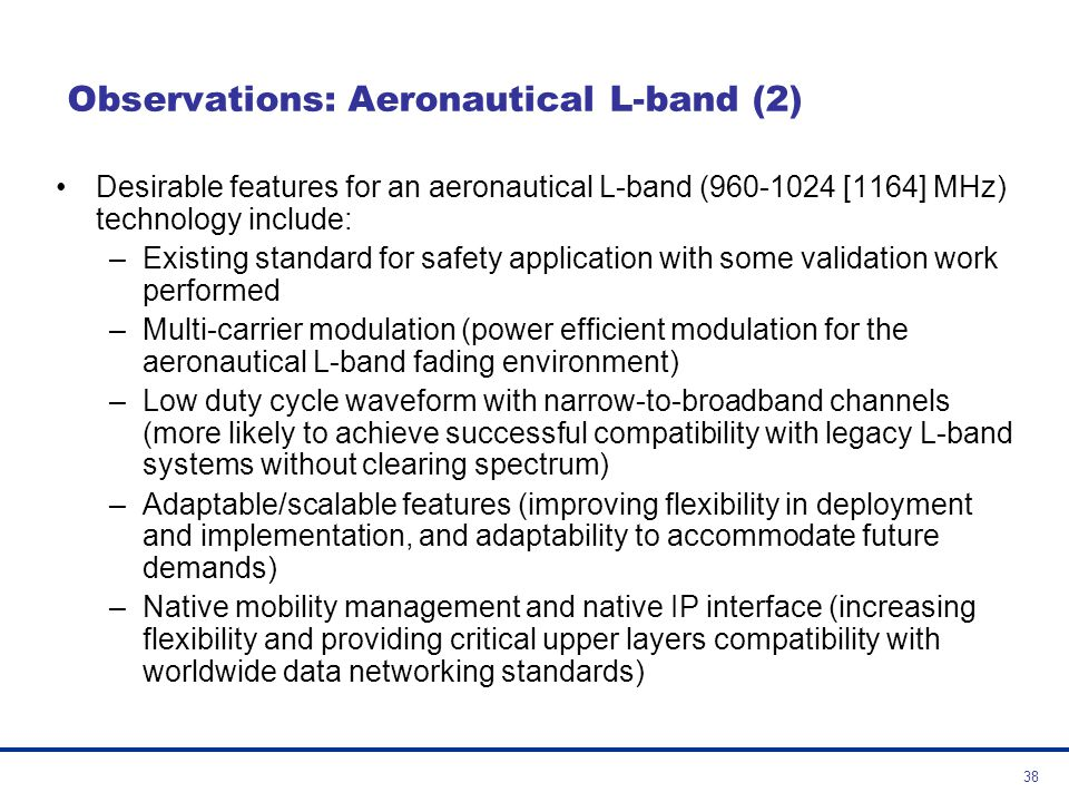 Observations: Aeronautical L-band (2)