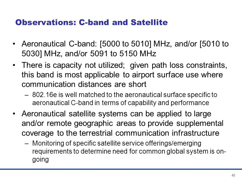 Observations: C-band and Satellite