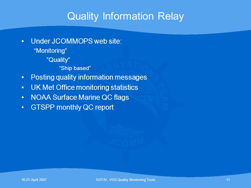 Quality Information Relay