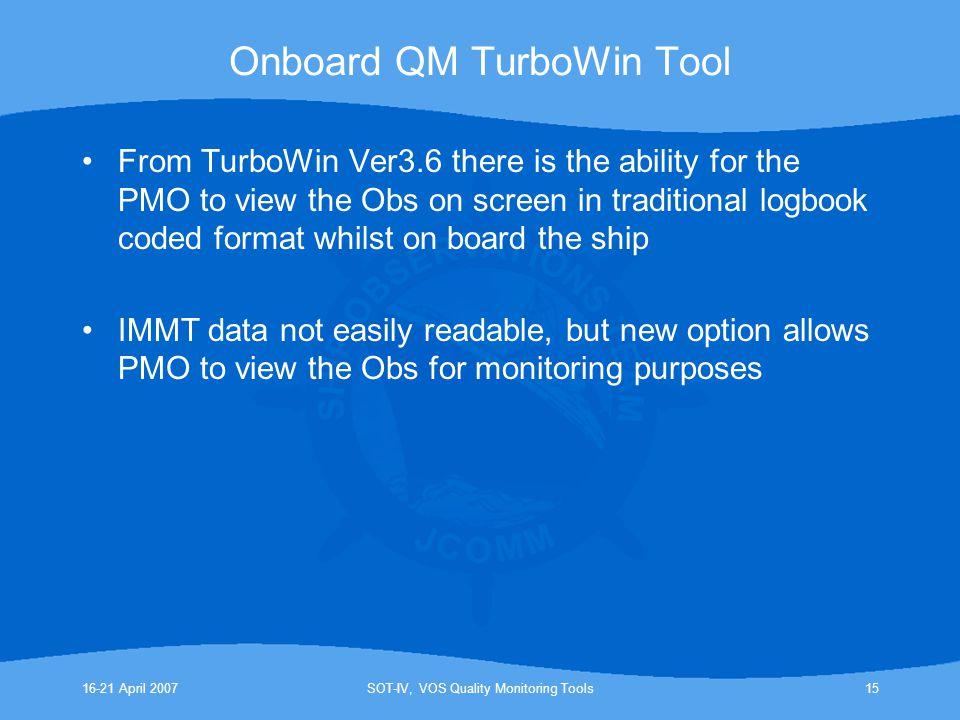 Onboard QM TurboWin Tool