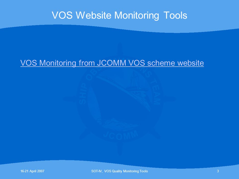 VOS Website Monitoring Tools
