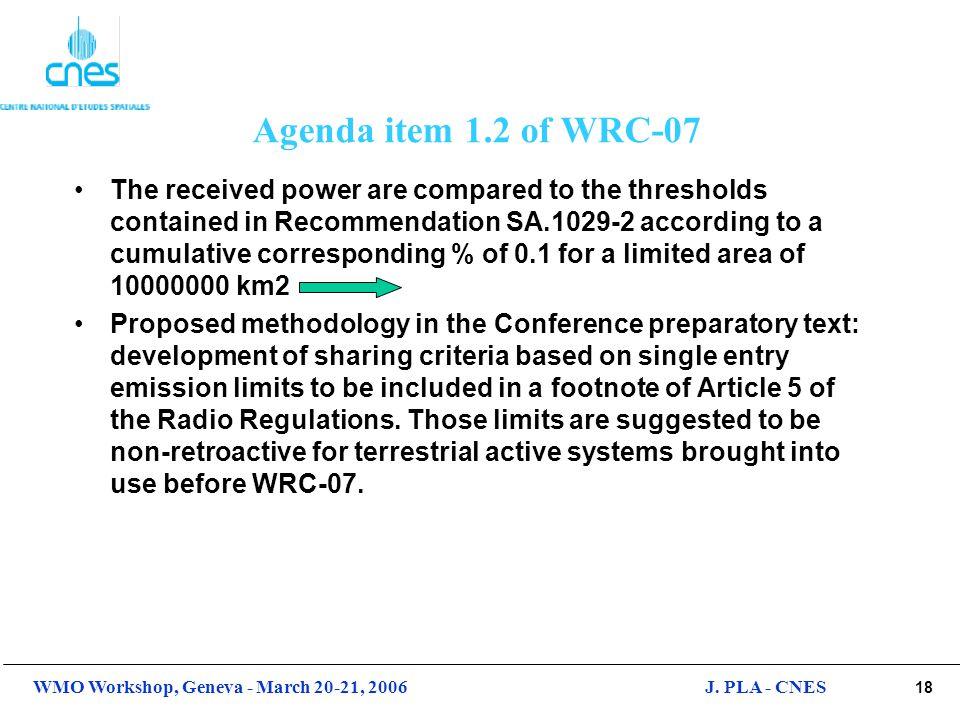 Agenda item 1.2 of WRC-07