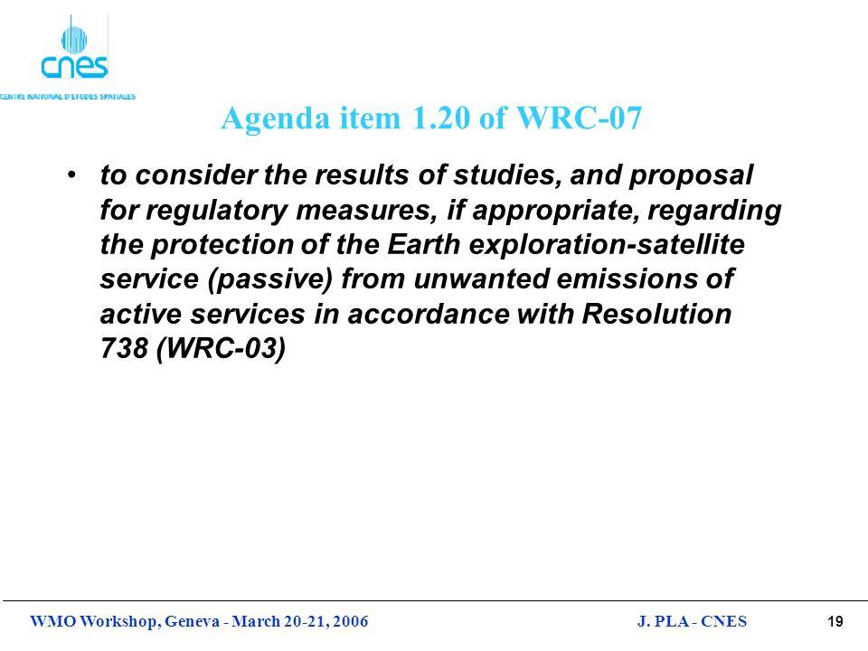 Agenda item 1.20 of WRC-07