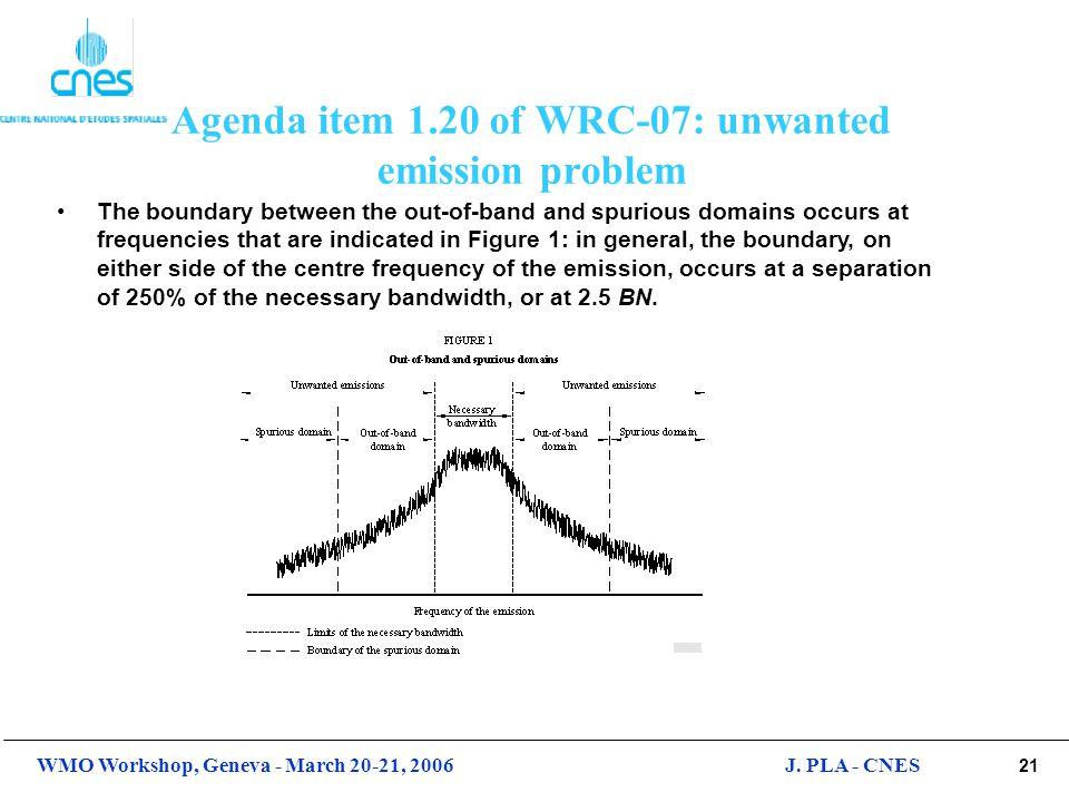 Agenda item 1.20 of WRC-07: unwanted emission problem