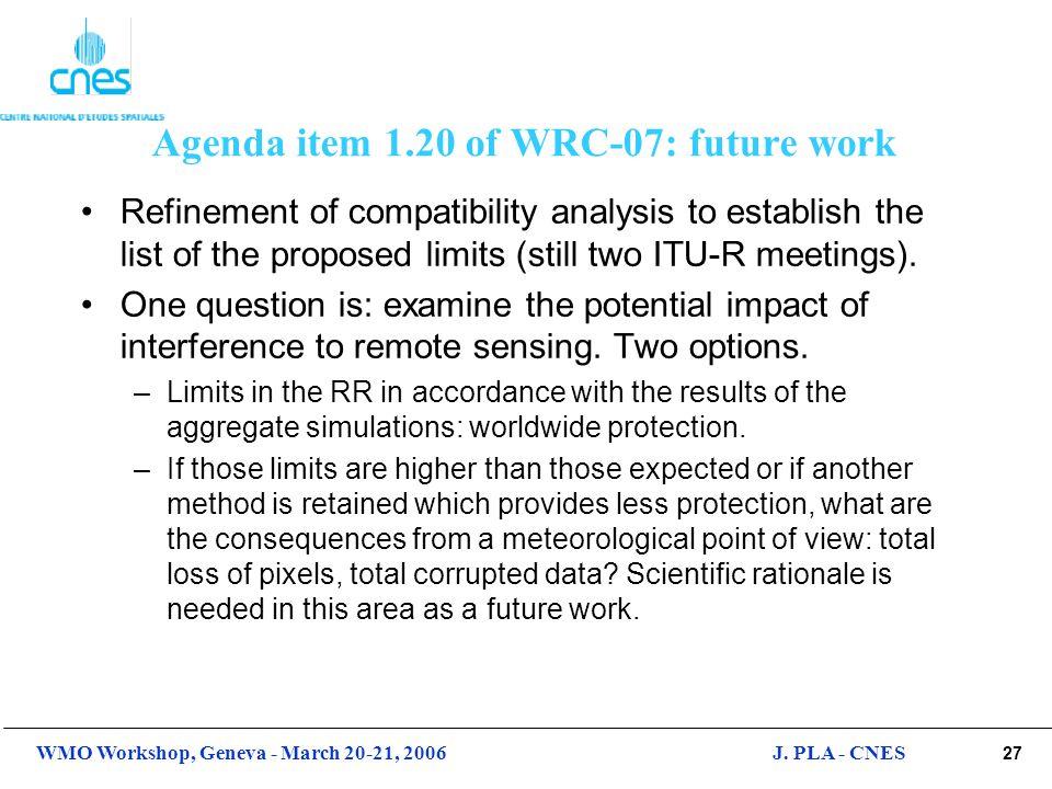 Agenda item 1.20 of WRC-07: future work