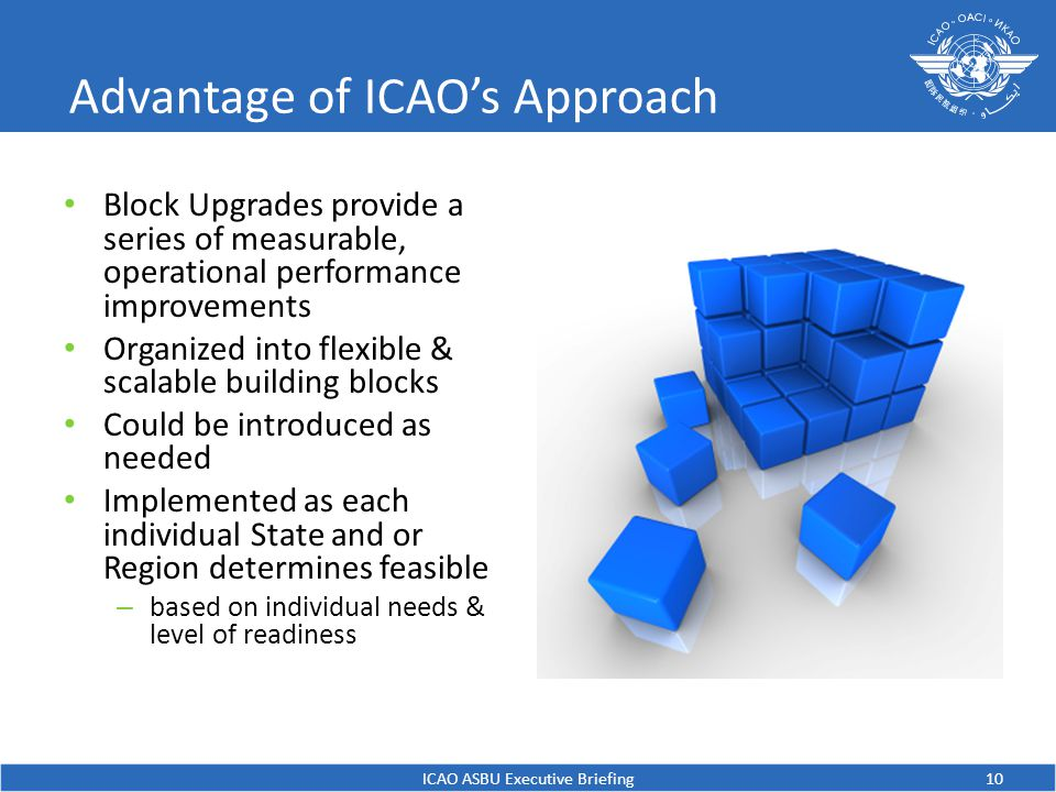 Advantage of ICAO's Approach