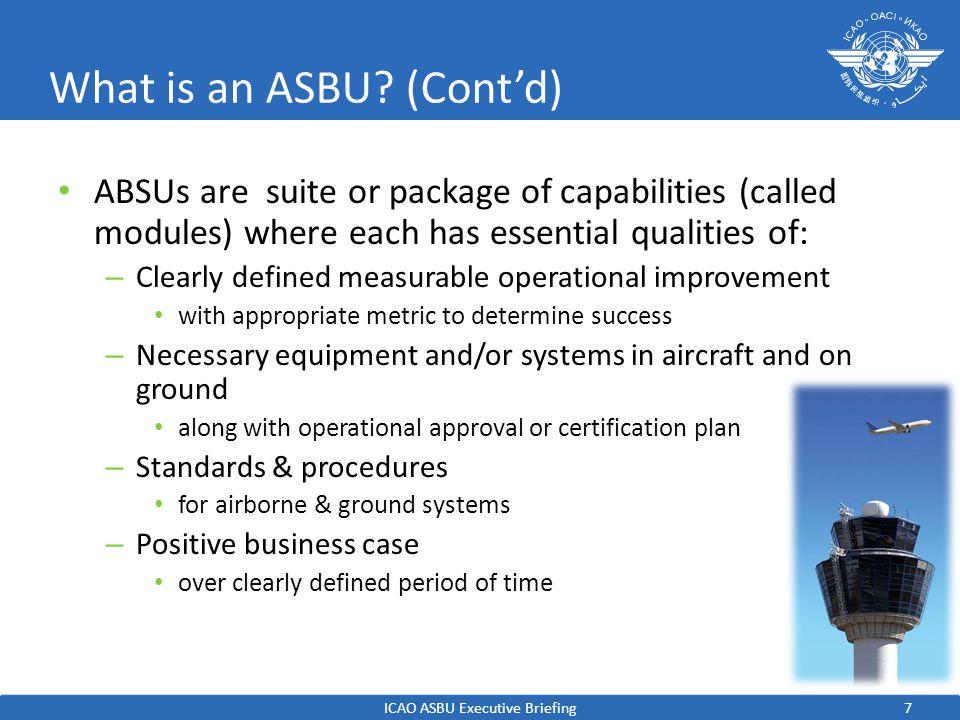 What is an ASBU (Cont'd)